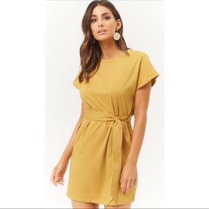 Forever 21 Belted Mini T-Shirt Dress